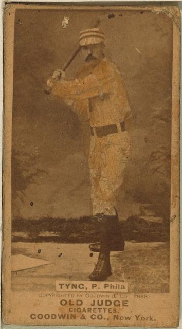 [Tyng, Philadelphia Quakers, baseball card portrait]