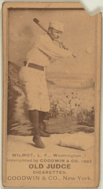 [Walt Wilmot, Washington Statesmen, baseball card portrait]