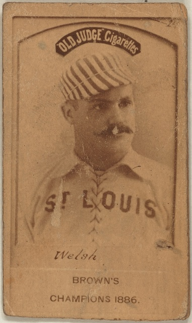 [Welch, St. Louis Browns, baseball card portrait]
