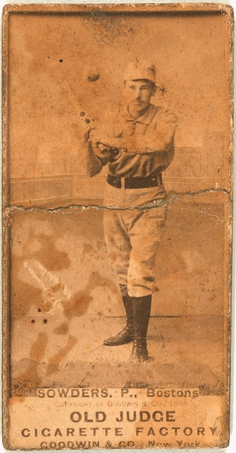 [William Sowders, Boston Beaneaters, baseball card portrait]