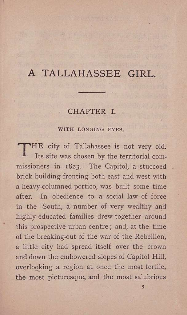 A Tallahassee girl,