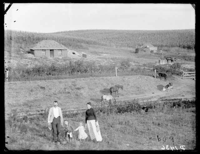 """A typical western Nebraska homestead."" or ""My little German home across the sea.""  Custer County, Nebraska."