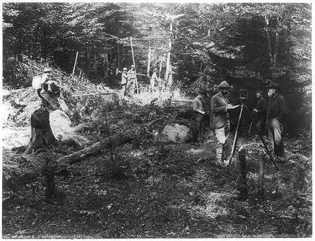 Adirondack R.R. survey party, near Long Lake, 1888