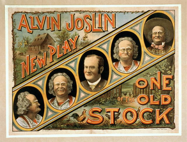 Alvin Joslin in a new play One of the old stock