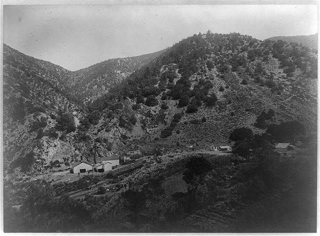 Antimony mines and buildings, Kern County, Calif., about forty miles from Bakersfield
