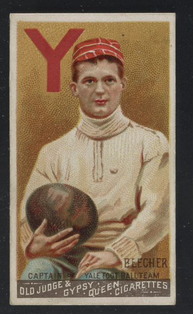 Beecher, captain of Yale foot ball team Old Judge & Gypsy Queen Cigarettes.