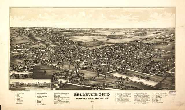 Bellevue, Ohio, Sandusky & Huron counties 1888.