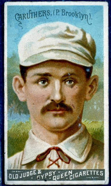 [Bob Caruthers, Brooklyn Trolley-Dodgers, baseball card portrait]