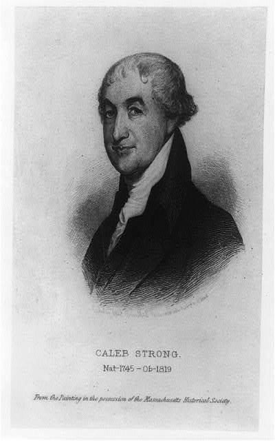[Caleb Strong. Nat--1745 - Ob--1819] / etching by Albert Rosenthal, 1888 after painting by Gilbert Stuart.