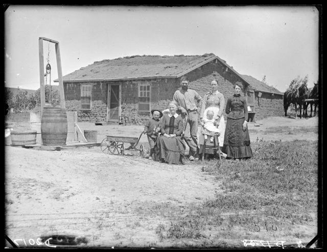 Charles Shafer family, Sargent, Custer County, Nebraska.