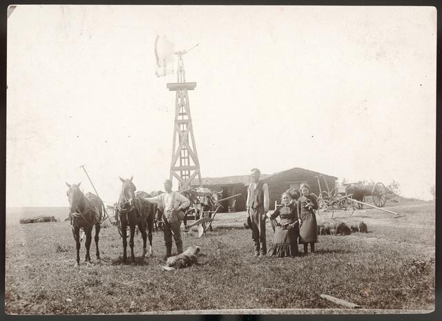 Charles Westbrook family, Comstock, Nebraska