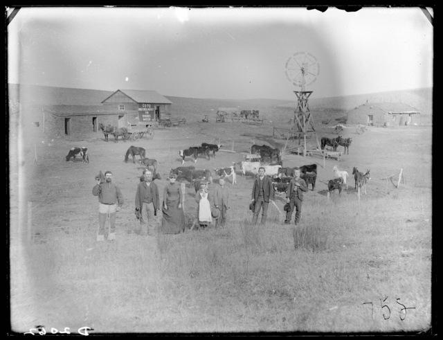 Cole Farm, south of Mason City, Nebraska.
