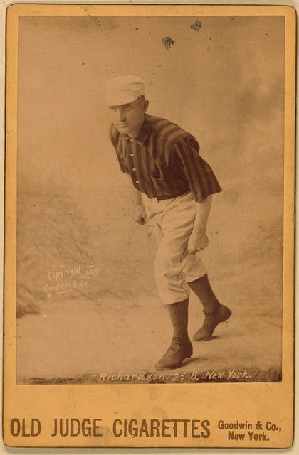 [Danny Richardson, New York Giants, baseball card portrait]