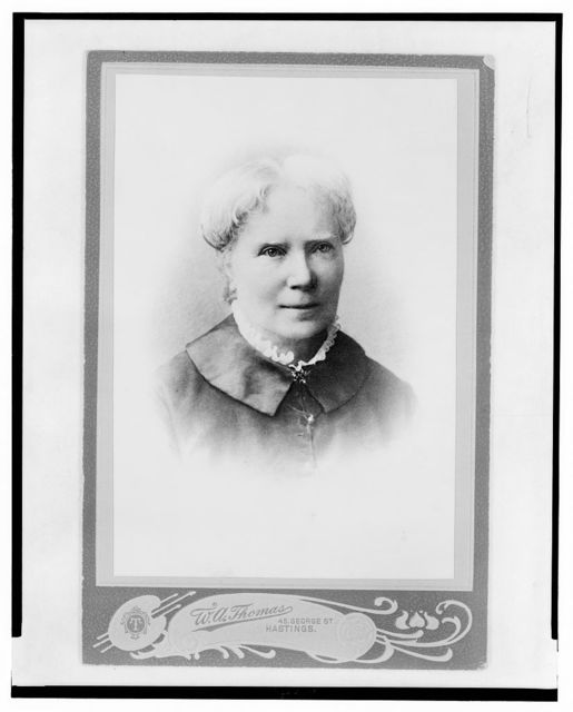 [Elizabeth Blackwell, medical doctor and activist for women in the medical profession at 67, head-and-shoulders portrait, facing front]
