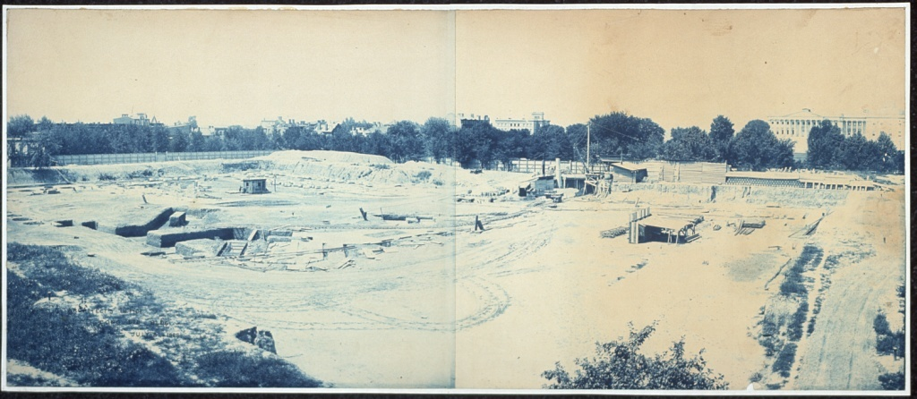 Excavation of site for the Library of Congress, Washington, D.C.
