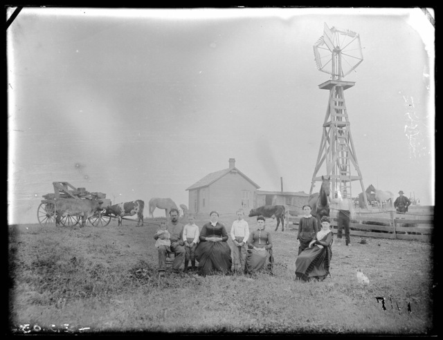 Family in Custer County, Nebraska.