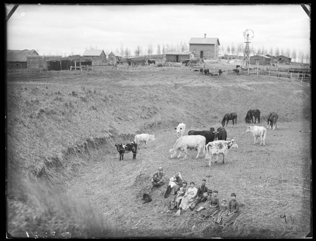 Family shown on the Andrew Christ farm, Custer County, Nebraska.