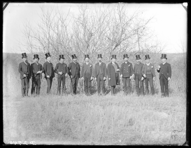 Group of Blooded Democrats at Mason City, Nebraska, during the Grover Cleveland campaign of 1888.