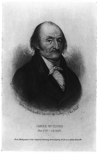 James McClurg, nat--1747 - ob--1823 / etched by Albert Rosenthal, Phila. 1888 after painting by Gibert Stuart.