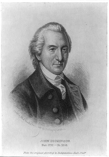 John Dickinson, nat. 1732 - ob. 1808 / etched by Albert Rosenthal, Phila. 1888 after painting by C.W. Peale.