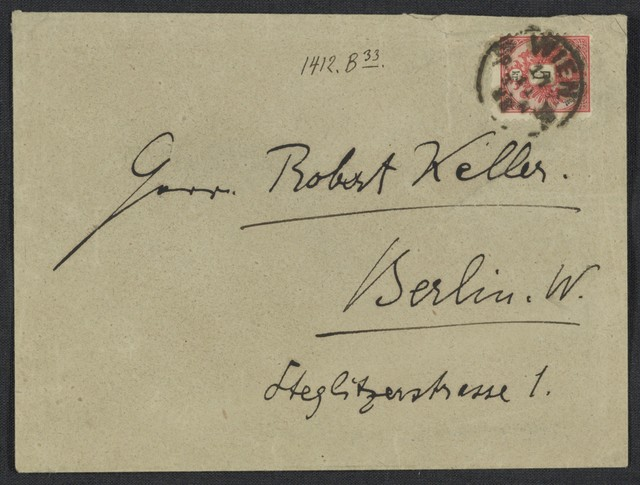 [Letter, 1888 Nov. 17, Wien, to Robert Keller]