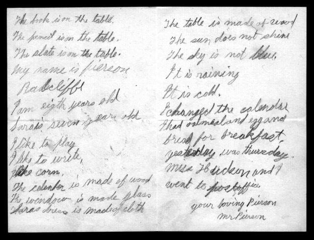 Letter from J. Pierson Radcliffe to Mabel Hubbard Bell, September 21, 1888