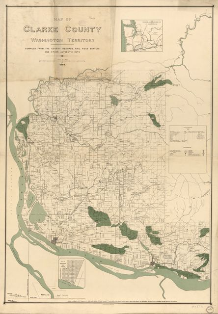 Map of Clarke County, Washington Territory : compiled from the county records, rail road surveys, and other authentic data /