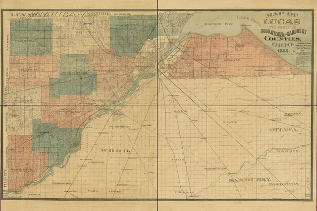 Map of Lucas and parts of Wood, Ottawa and Sandusky Counties, Ohio /