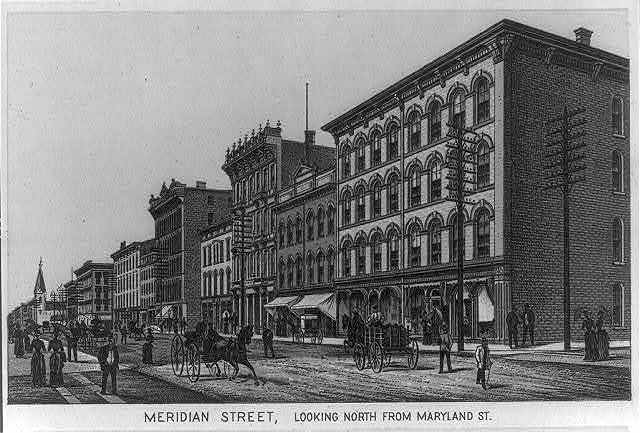 Meridian Street, looking north from Maryland St., Indianapolis, Indiana