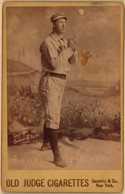 [Mike Slattery, New York Giants, baseball card portrait]