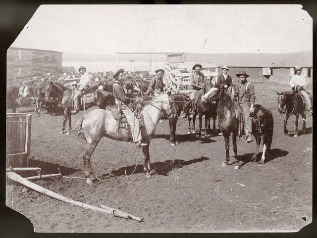 Nebraska cowboys (Round Valley, Custer County?)