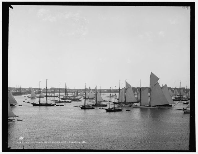 N.Y.Y.C. Fleet, Newport Harbor, August 11, 1888