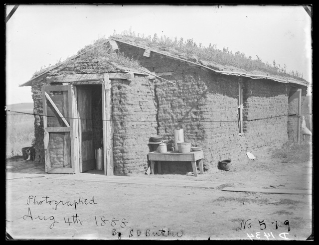 Old Mitchell sod house where Ketchem killed Olive in 1887 (or 1878)