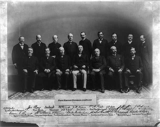 Post Master General [Don M. Dickinson] and staff