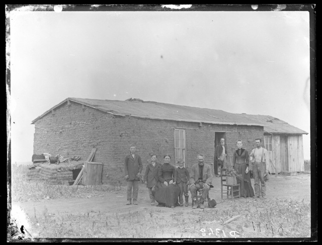 Rice homestead on Cliff Table, Round Valley, Custer County, Nebraska.