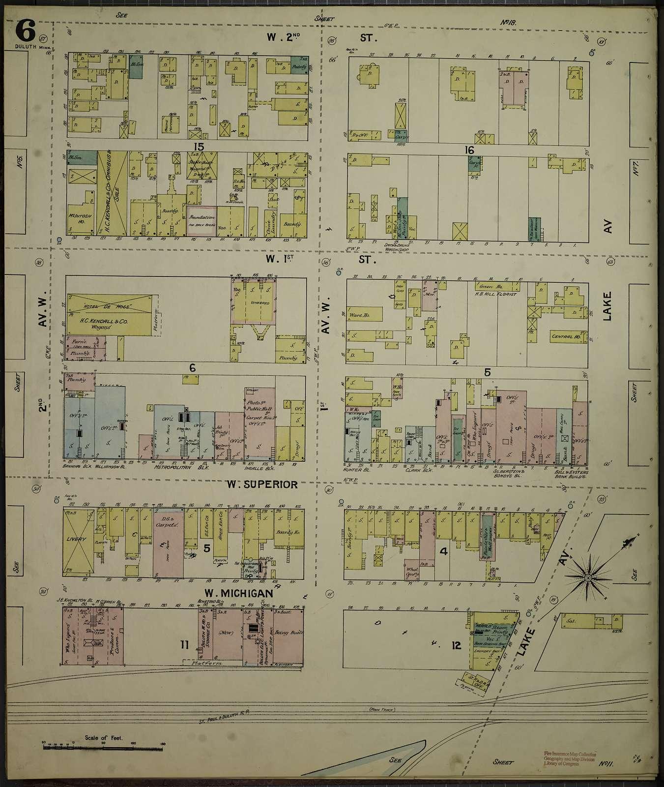 Sanborn Fire Insurance Map from Duluth, Saint Louis County, Minnesota