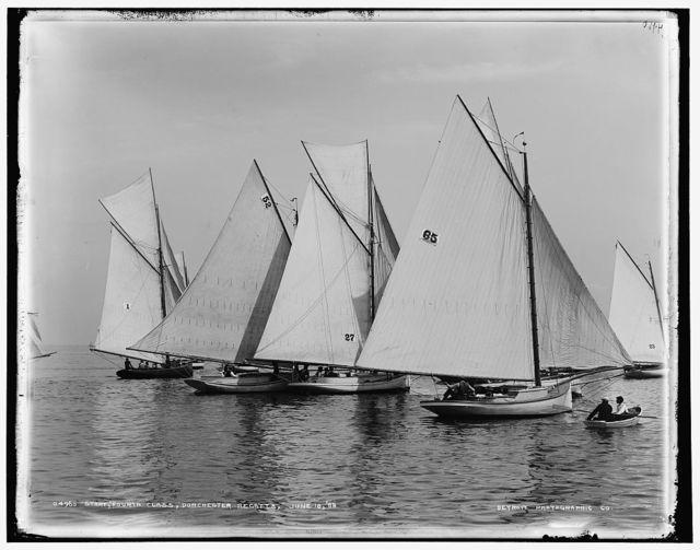 Start, fourth class, Dorchester regatta