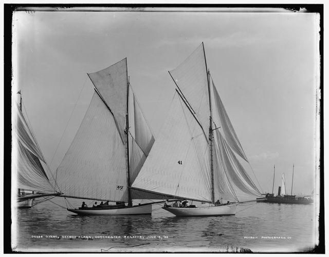 Start, second class, Dorchester regatta