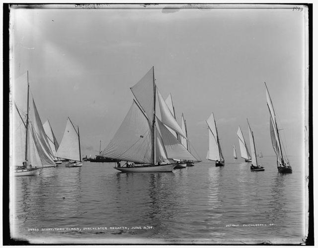Start, third class, Dorchester regatta