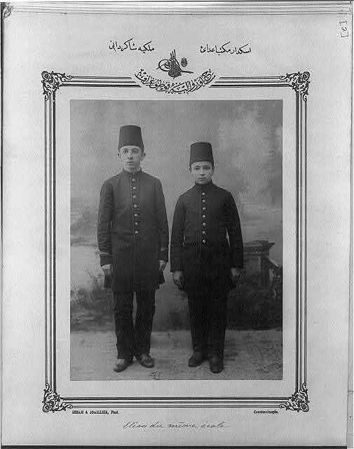 [Students, Üsküdar High School] / Sebah & Joaillier, Phot., Constantinople.