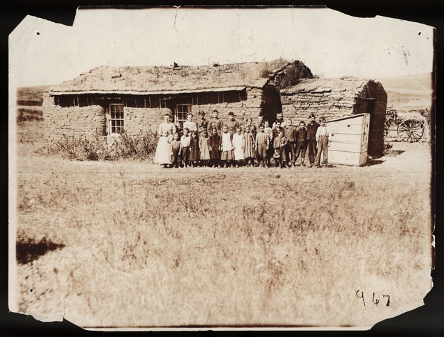 Sunday School Group at the Cooper School in Milburn, Custer County, Nebraska.
