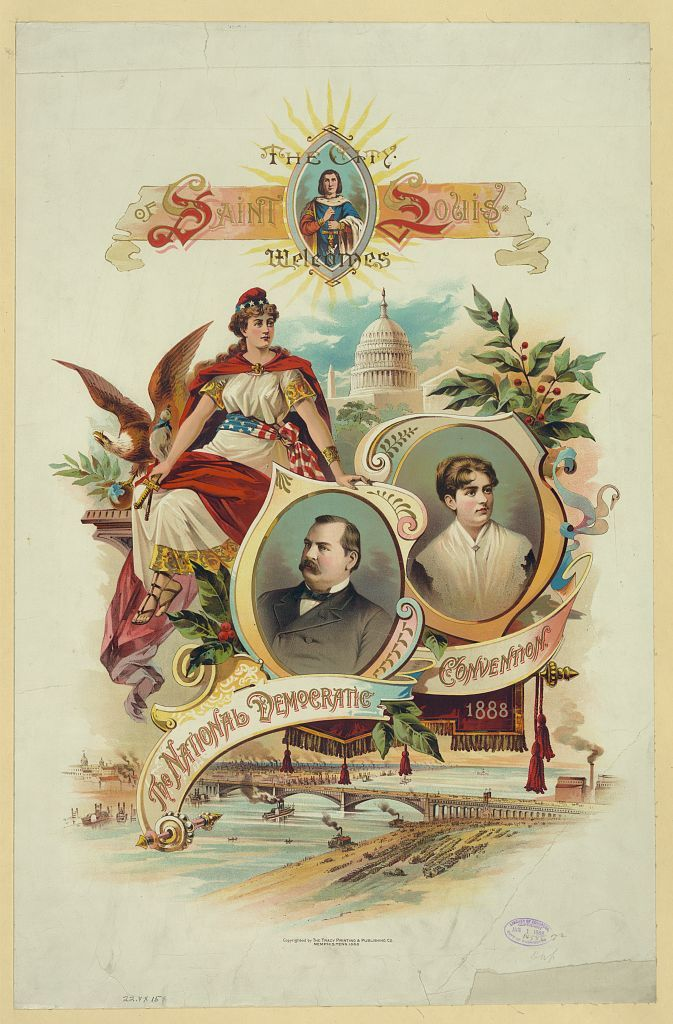 The city of Saint Louis welcomes the National Democratic Convention, 1888