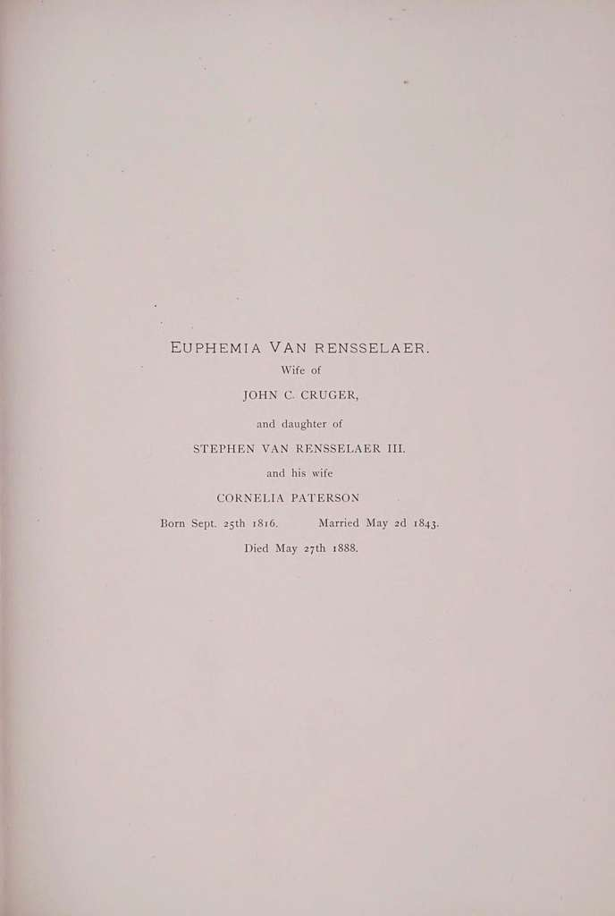 The Van Rensselaers of the manor of Rensselaerswyck
