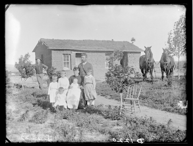 The William W. Thornton family,  northwest of Westerville, Nebraska.