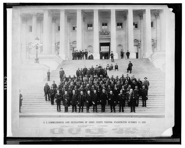U.S. commissioners and delegations of Sioux chiefs visiting Washington, October 13, 1888