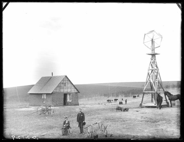 W.P. Hyatt, Cat Creek or Elk Creek in Southeast Custer County, Nebraska.