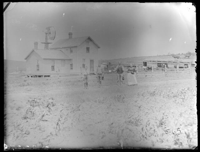 A farm in east Custer County, Nebraska