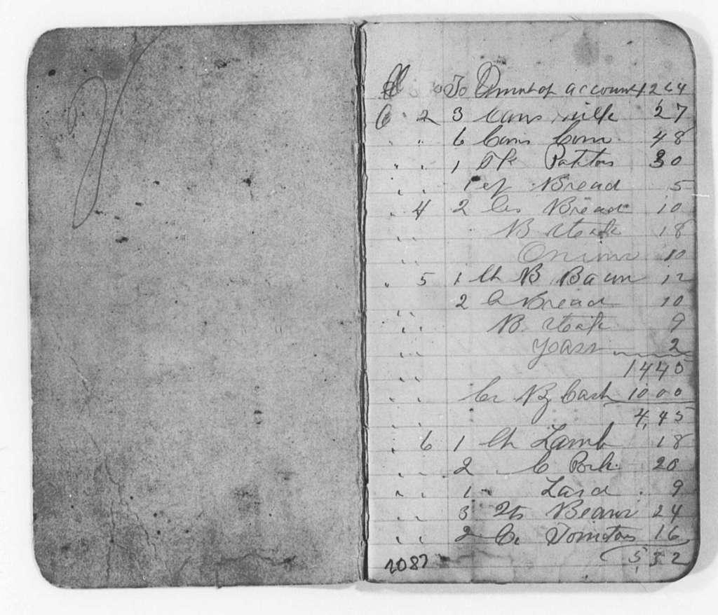 Account Book (Helen Pitts Douglass), 1889-1901