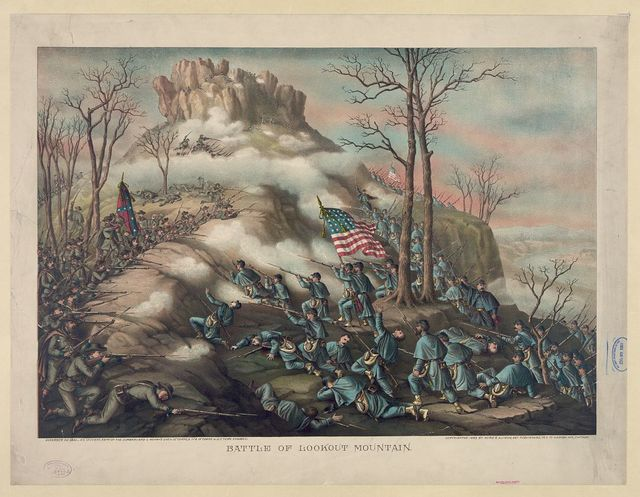 Battle of Lookout Mountain--November 24' 1863 - 4' & 14' Corps, Army of the Cumberland & Geary's Div. o. 12' Corps, & 11' & 15' Corps A.O.T. Tenn. engaged