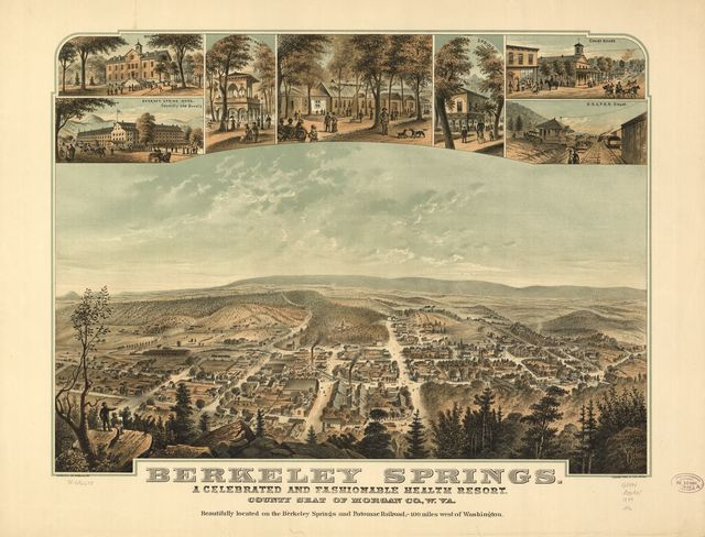 Berkeley Springs, a celebrated and fashionable health resort, county seat of Morgan Co., W.Va.